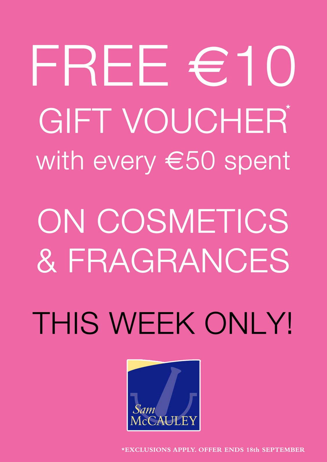 Free €10 Voucher with every €50 Spent!