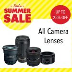 Sam McCauleys Summer Sale Up To 25% off all camera lenses