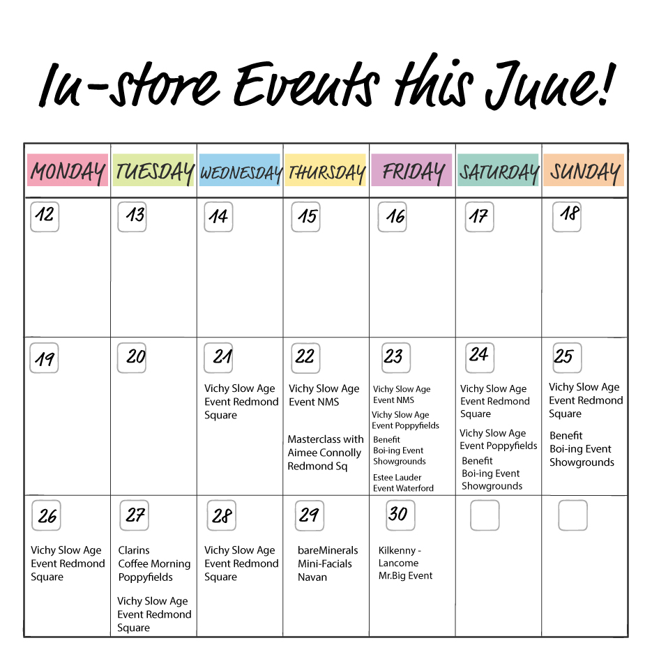 Calendar of In-Store Events